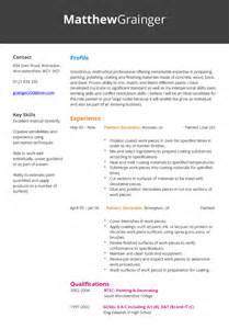 painter resume sle 28 painter resume sle union painters resume sales