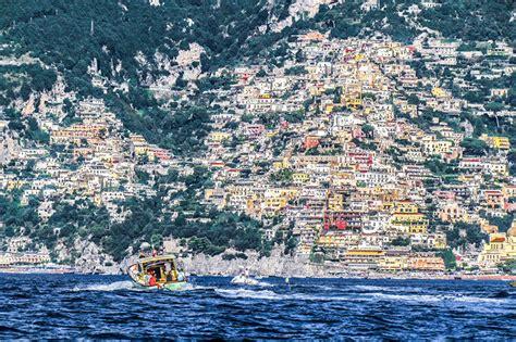 motorboot italien bilder positano italien salerno meer gebirge motorboot