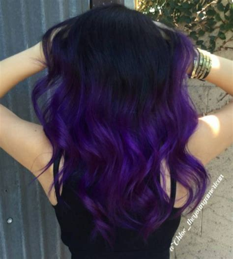 purple hair styles for black hair 43 amazing dark purple hair balayage ombre violet style