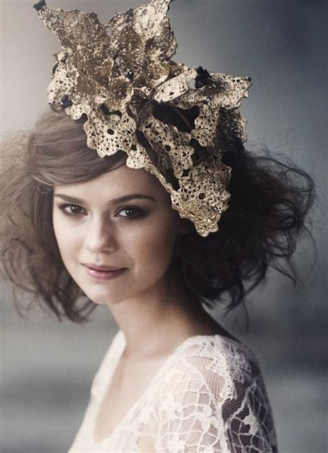Diane Flower Headpiece gold lace princess diana wedding and headpieces on