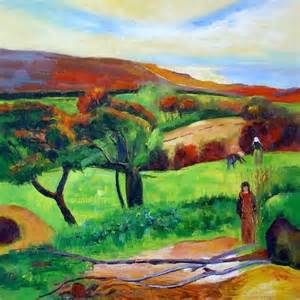 paul gauguin le moulin david tableau de grands peintres