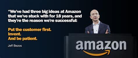 Amazon Quote | jeff bezos quote telling the 3 things that make amazon