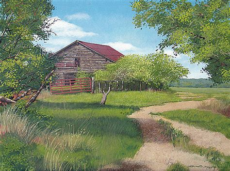 rural farm painting by muzyka