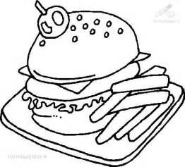color burger hamburger coloring page