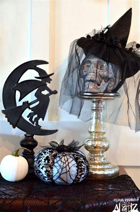 three witches decor witch mantel tutorial pedestal un and glitter