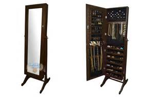 Jewellery Armoire Canada Costco Canada 70 Elise Brown Jewellery Armoire Now