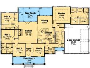 Ranch Floor Plans With Bonus Room by French Country Home Plan With Bonus Room Ranch Style