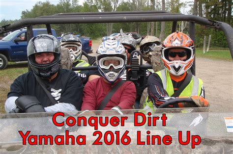 Quads Background Check The Nation Valley Atv Club Checks Out The Yamaha Conquer Dirt 2016 Line Up
