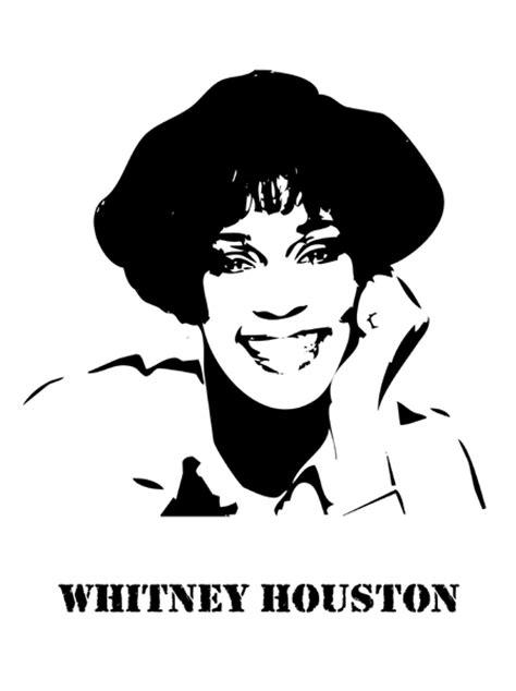 celebrity ink logo fan stencil whitney houston craft found