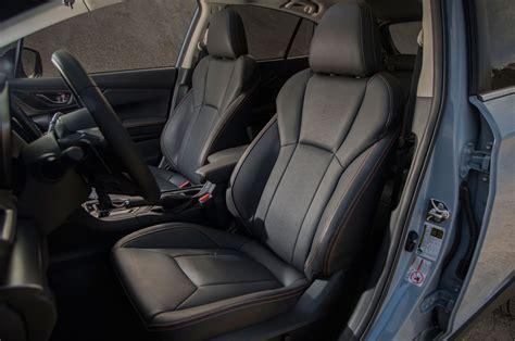 subaru crosstrek interior leather first drive 2018 subaru crosstrek