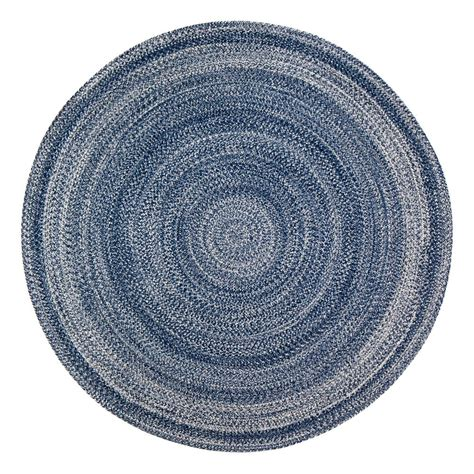 Anji Mountain Epona Braided Blue 4 Ft Round Area Rug 4 Foot Area Rugs
