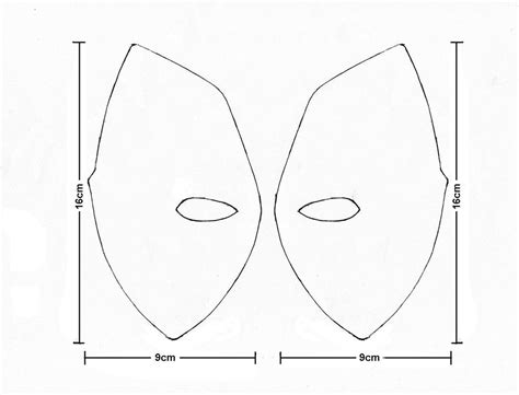 deadpool mask template image gallery deadpool template