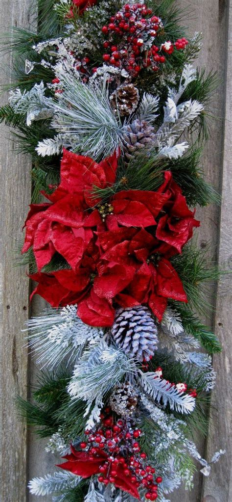 662 best christmas swags garlands images on pinterest