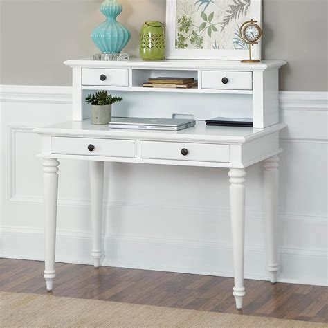 white student desk with hutch home styles bermuda brushed white student desk with optional hutch at hayneedle