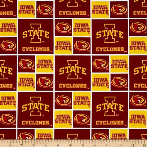 iowa state colors collegiate cotton broadcloth iowa state