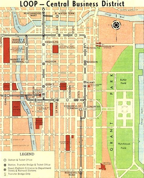 chicago loop map chicago map the loop