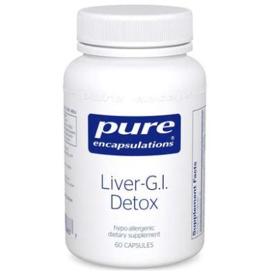 Detox International Laboratories by Encapsulations Liver G I Detox Thioctic Acid Formula