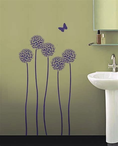 floral wall stencils for bedrooms ideas incredible bedroom decoration using purple flower