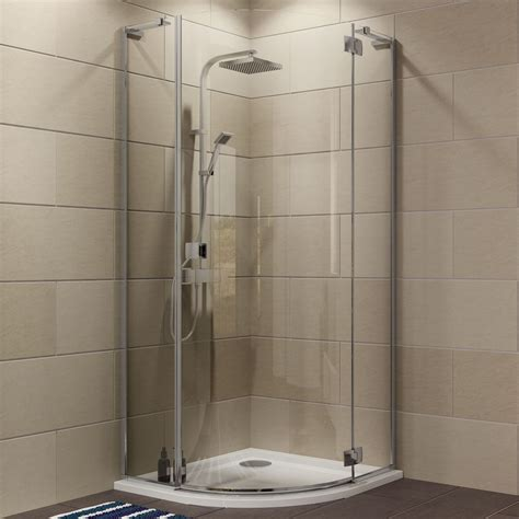 Shower Doors And Trays Cooke Lewis Luxuriant Quadrant Shower Enclosure Tray Waste Pack With Hinged Door W 900mm