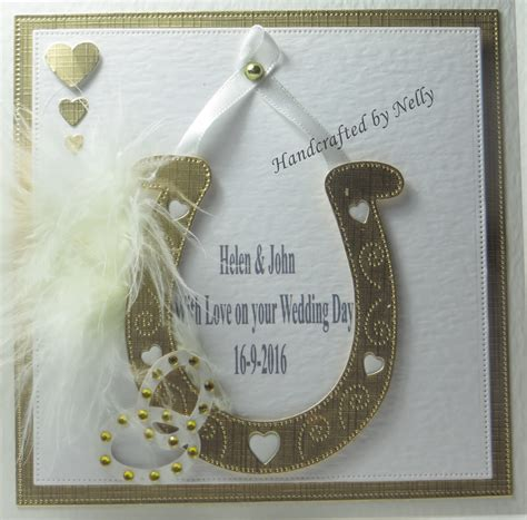 Handmade Wedding Horseshoes - nellys crafty card attack lucky horseshoe wedding cards