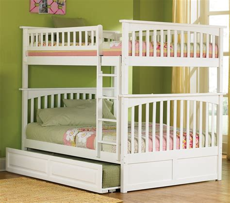 white full over full bunk beds dreamfurniture com columbia bunk bed full over full in