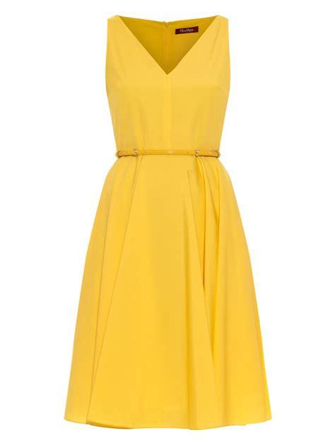 Dress Yellow lyst max mara studio asiago dress in yellow