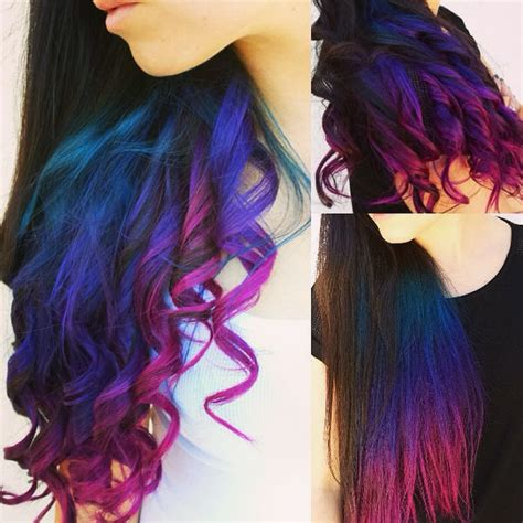 ombre colorful hair how to go from hair to pastel color in one set of