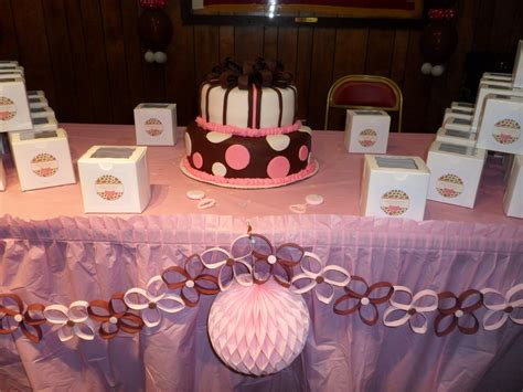 Pink And White Baby Shower Decorations by Baby Shower Brown Pink And White Decorations By