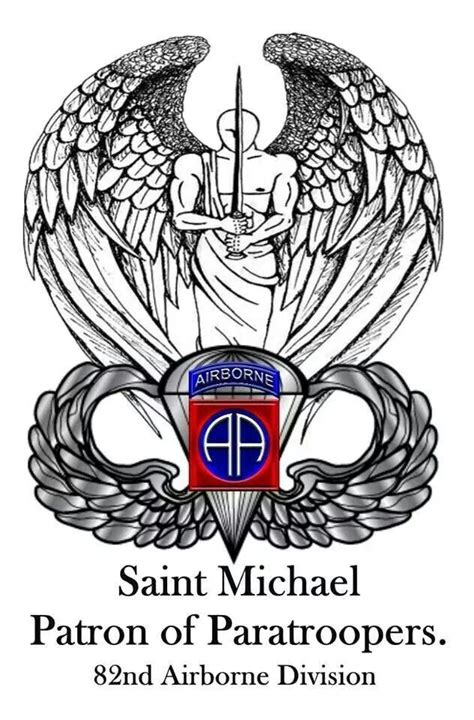 paratrooper tattoo st michael patron of paratroopers