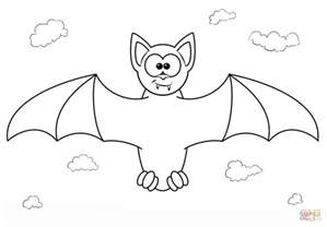 Galerry cartoon bat coloring pages