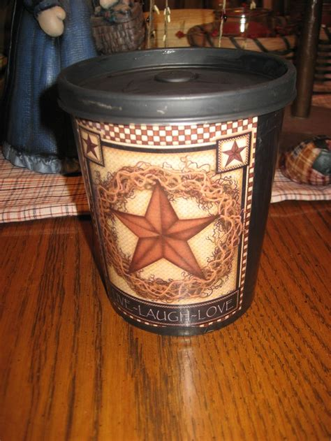 Decoupage Plastic Container - 1000 images about plastic container redo on