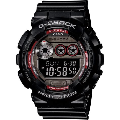 Gshock Time casio gents g shock 200m digital chronograph world time