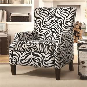 zebra print accent chair accent zebra pattern chair by coaster furniture 902135