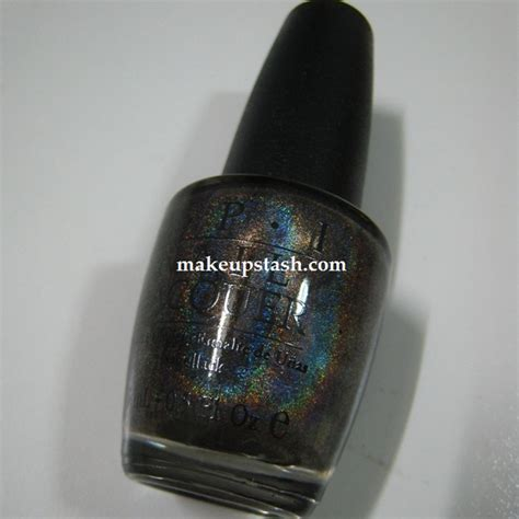 black holographic nail polish opi my private jet opi nail lacquer in my private jet makeup stash