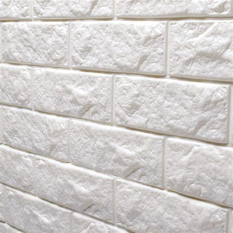 stick on wall peel stick 3d wall panels foam block brick design 10