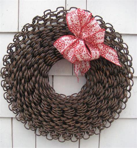unique metal christmas wreath rustic primitive repurposed
