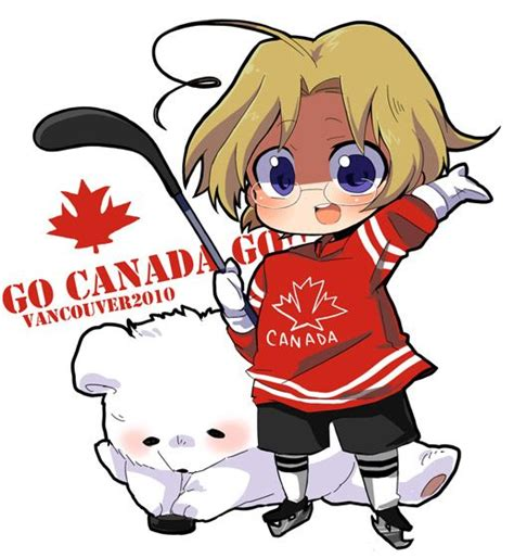 Kaos Anime Canada Knows Hockey chibi canada hetalia fan canada canada big words and chibi