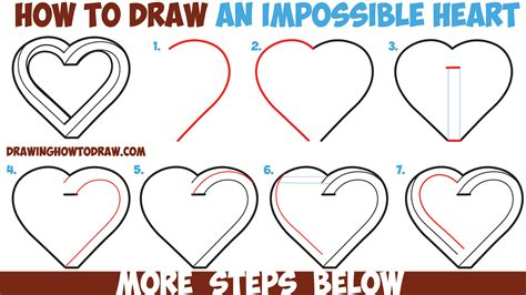 how to draw a step by step easy how to draw an impossible easy step by step drawing tutorial for beginners