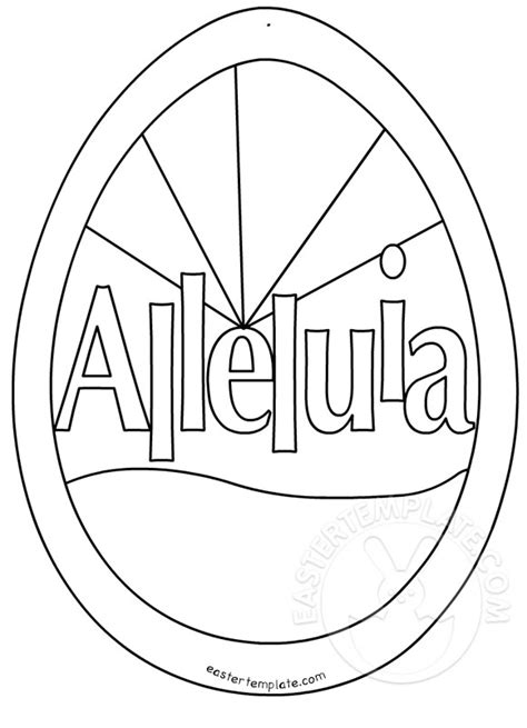 easter alleluia coloring page easter template