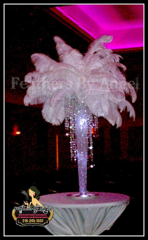 Art Deco Style Wedding And Centerpieces On Pinterest Ostrich Feather Centerpieces Diy