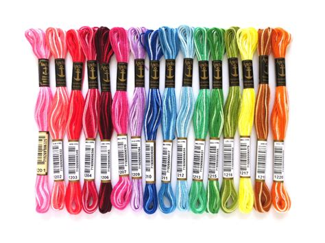 yarn color chart variegated variegated floss comparison dmc and anchor part 1 ancora