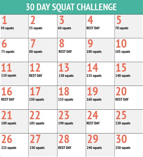 60 days squat challenge in the 30 day squat challenge