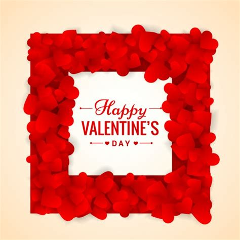 valentines day photo frame valentines day frame made of hearts vector free