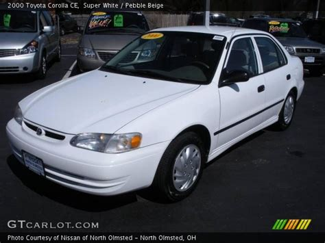 2000 Toyota Corolla Ce White 2000 Toyota Corolla Ce Pebble Beige