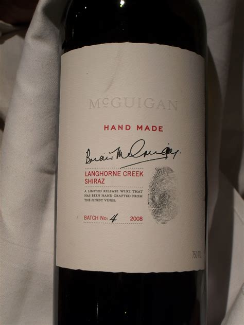 Mcguigan Handmade Shiraz - neil mcguigan and his handmade shiraz at roussillon the