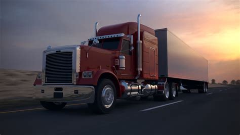 Wheels Truck Road Animation Of An 18 Wheel Truck On The Road During