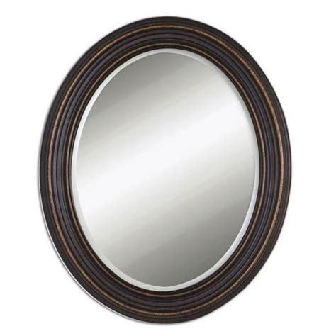 black oval bathroom mirror outdoor