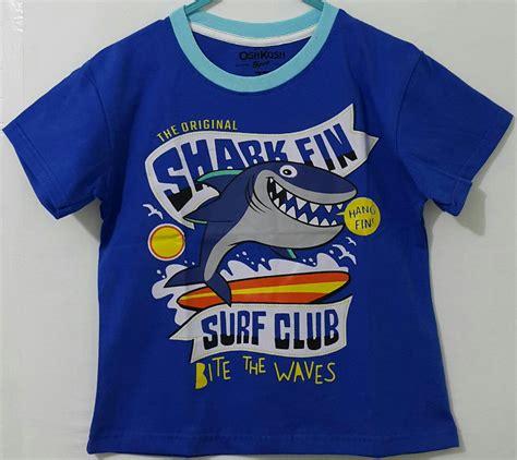Harga Kaos Merk Sharks kaos oshkosh shark fin biru 1 6 oshkosh grosir eceran