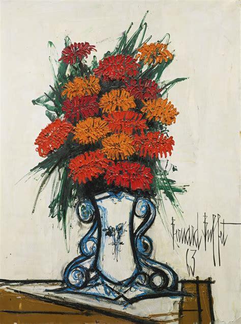 bernard buffet bouquet de fleurs 1963 oil on canvas