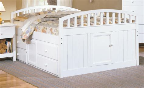 full size captain bed captain beds with trundle and drawers stow away bookcase